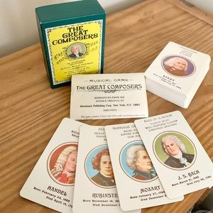 VTG 1976 Great Composers Musical Card Game